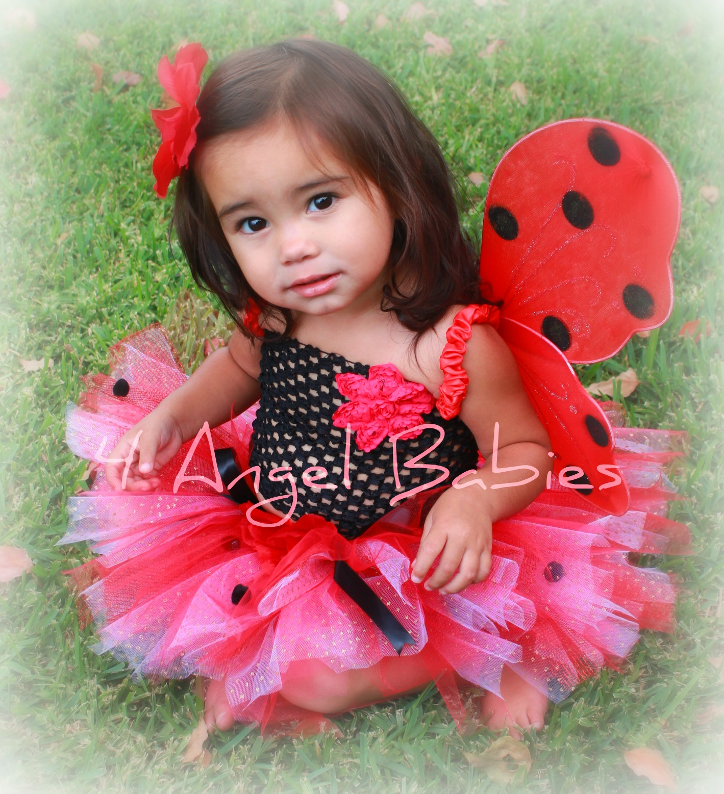 Pretty in Pink & Red Lady Bug Glitter Tutu