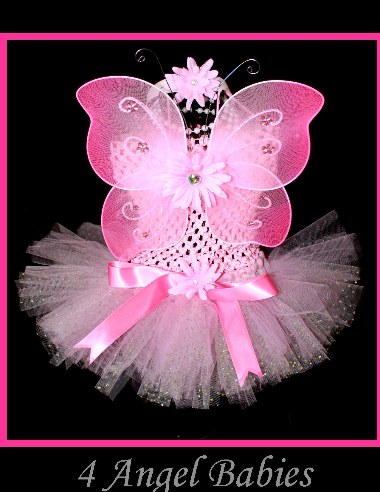 My First Glitter Tutu 4 Piece Gift Set with Baby Butterfly Wings