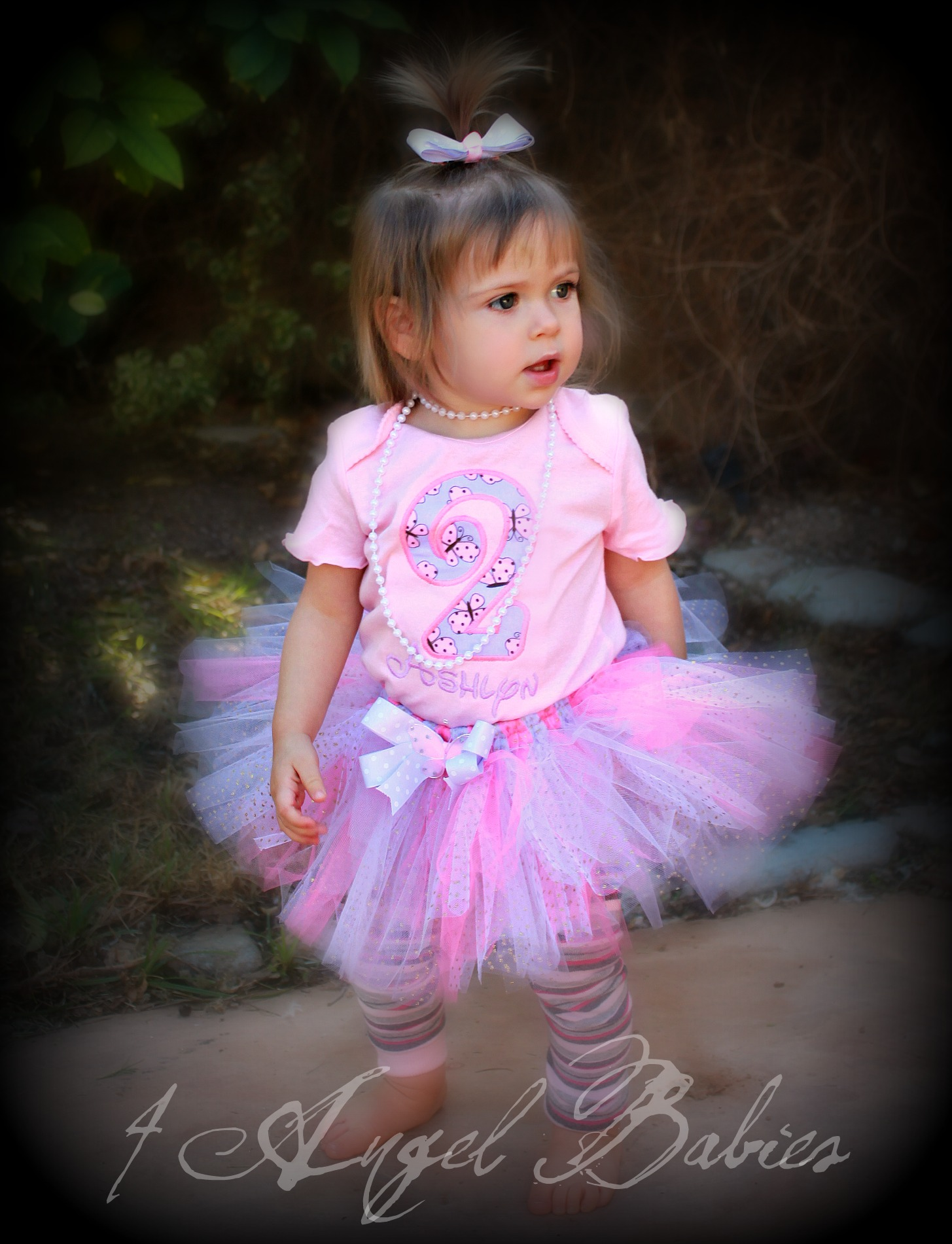Pink & Purple Butterfly Princess Birthday Top
