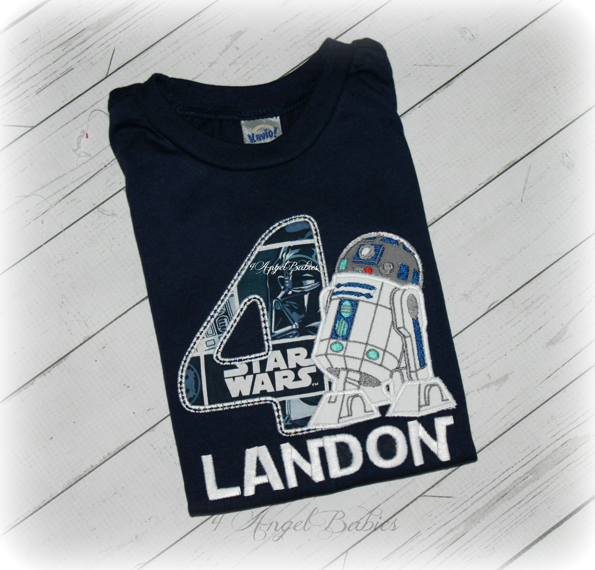 Star Wars R2D2 inspired Robot Boys Birthday Shirt or Top